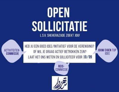 Vacatures (deadline 10/9)